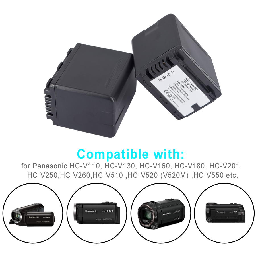 Palo-1Pc-3900mAh-VW-VBT380-VBT380-VW-VBT190-VBT190-Battery-for-Panasonic-HC-V110-HC-V130