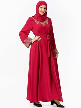 Muslim Fashion Abaya For Women Islamic Dress Dubai Leisure Long Moroccan
