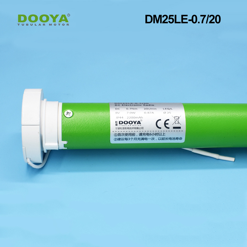 Dooya 25mm Charging Lithium Battery Tubular Motor For Motorzied Zebra Blinds Elctric Roller Blinds Accessories DM25TEQ