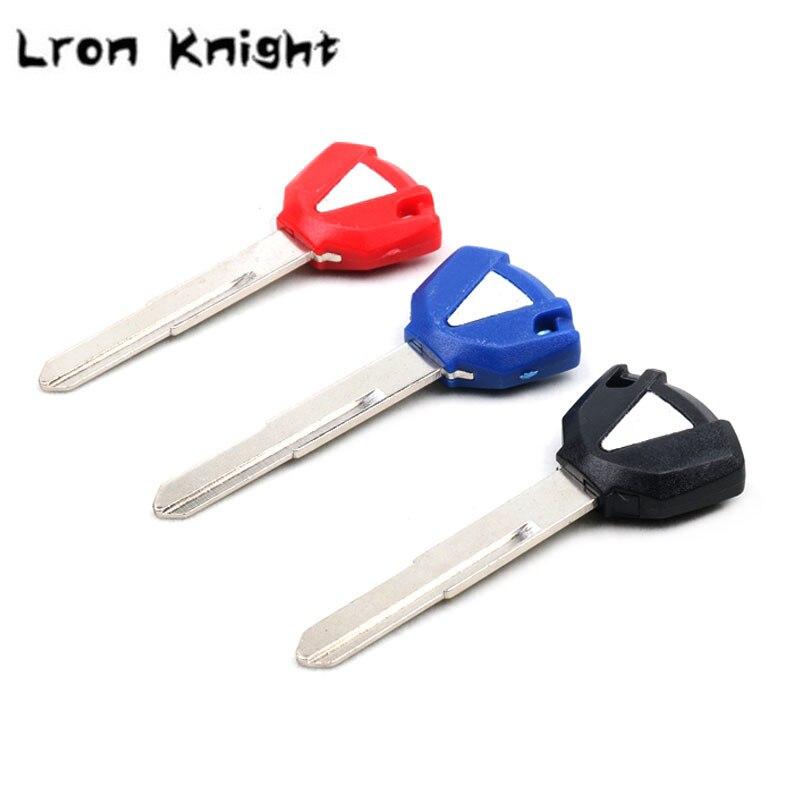 For KAWASAKI Ninja ZX6R ZX10R ZZR400 Z750 Z800 Z1000 VERSYS 650 ER6N ER6F ER-6N ER-6F Motorcycle Key Uncut Blade Blank Keys Chip(China)