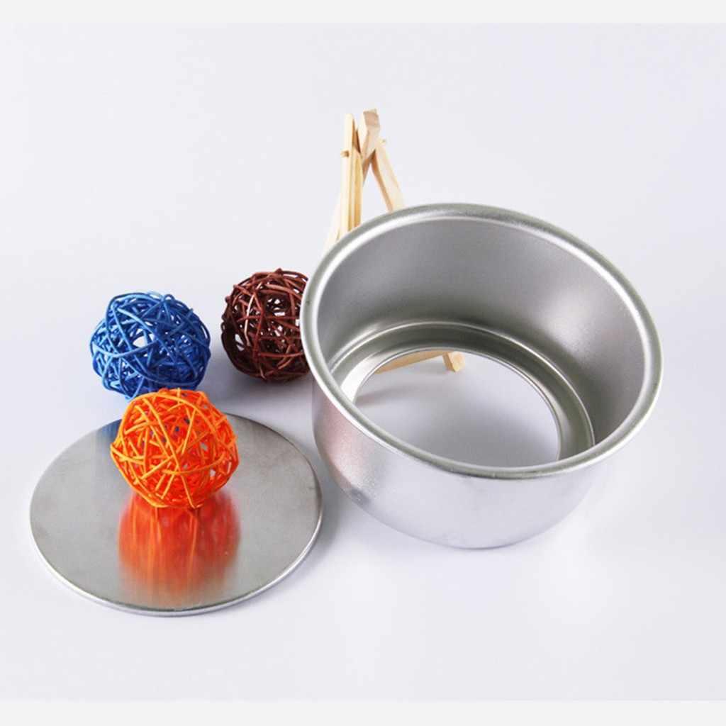 Diy アルミ合金ラウンドミニケーキパンケーキデコレーションツールリムーバブル型焼くツールビスケットケーキベーキングアクセサリー