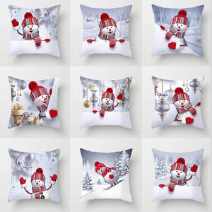 Pillowcase Cushion-Cover Home-Decorative Christmas Sofa-Bed