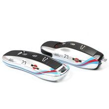 Neue Schlüssel Abdeckung Für Porsche Boxster Cayenne Panamera Macan Cayman 911 918 971 9YA Schlüssel Fest Fall Cap Fest Shell silber No.23 Racing