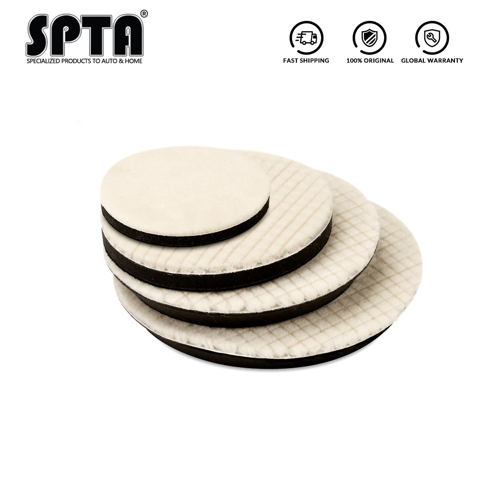 5/6/7inch Lambs Woolen Polishing Pad For Car Polisher Detail Mirror Finish Polishing 80/100/125/150/180 Mm Polishing Disk