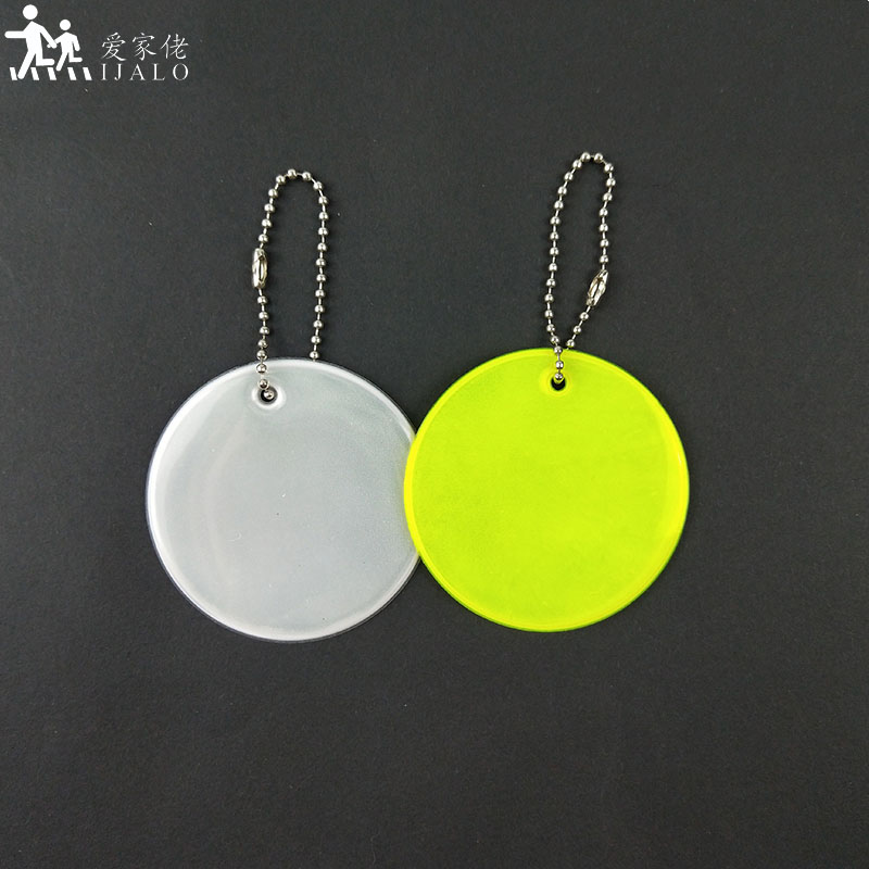 Meilite Reflexite Material 250 Candle Lights Soft Reflector Reflective Keychain Bag Pendant Accessories For Traffic Safety