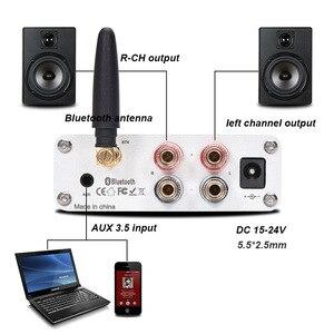 Image 2 - Lusya QCC3003 Bluetooth 5.0 HiFi מגבר כוח 50W * 2 סטריאו TPA3116 בית אודיו Amp עם טרבל בס התאמה i4 005 6