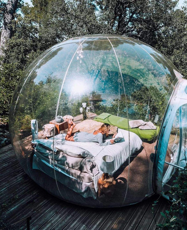 New Design Garden Bubble Tent Garden Igloo Tent On Sale 3M/4M/5M Dia Bubble Hotel Transparent Bubble Dome Tent Bubble Tree