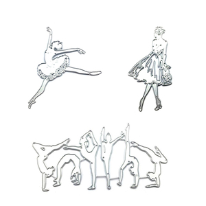 Tańcząca dziewczyna/wybiegu dziewczyna/sztuki walki do cięcia metalu wykrawacze szablony Scrapbooking Album DIY pieczęć karta papierowa wzór tłoczenia Craft