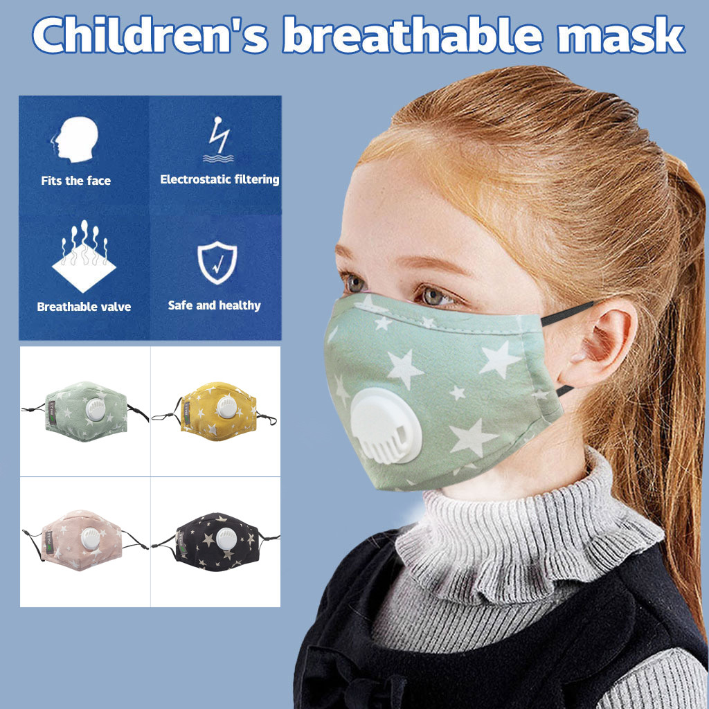 Kids' Baby 1pc Reusable Dustproof Pm2.5 Pollution Respirator Cover S Face Maskswashable And Reusable Facemask Filter Maske