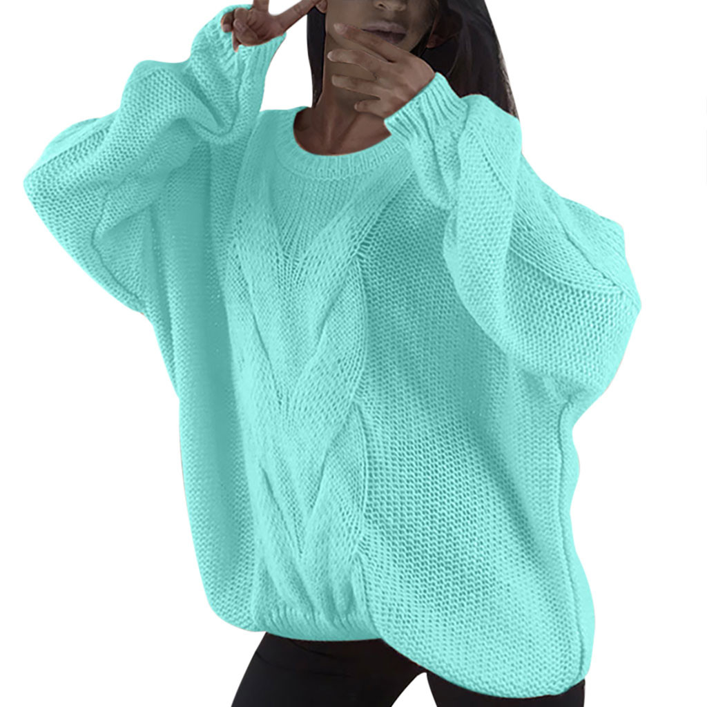 US $7.32 43% OFF|Neon Knitting Sweater Casual Long Sleeve Solid Colors Sweaters Loose Sweater Women Pullover Clothing 2020 New Autumn