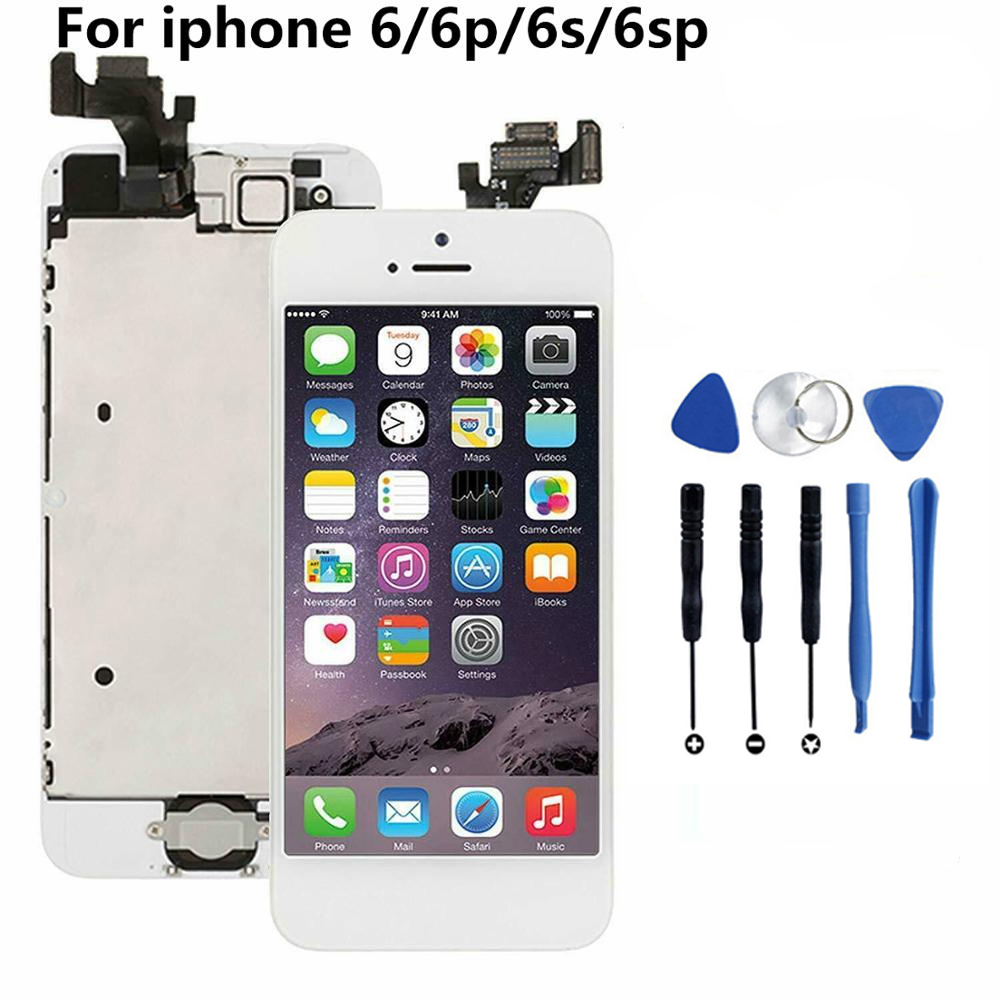 Full assembly LCD screen for iPhone 5/6/6s/6P/6SP LCD Display LCD Touch Screen Digitizer full Replacement pantalla+Button+Camera image