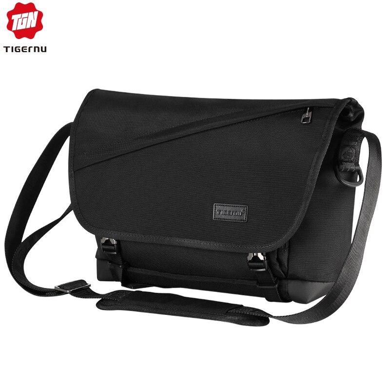 Tigernu 2020 Новая модная мужская сумка через плечо 9,5л, светильник, дизайнерские сумки-мессенджеры для мужчин, большая вместительность, Повседне...