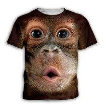 Детская одежда с лицом обезьяны 3d футболка для мальчиков и