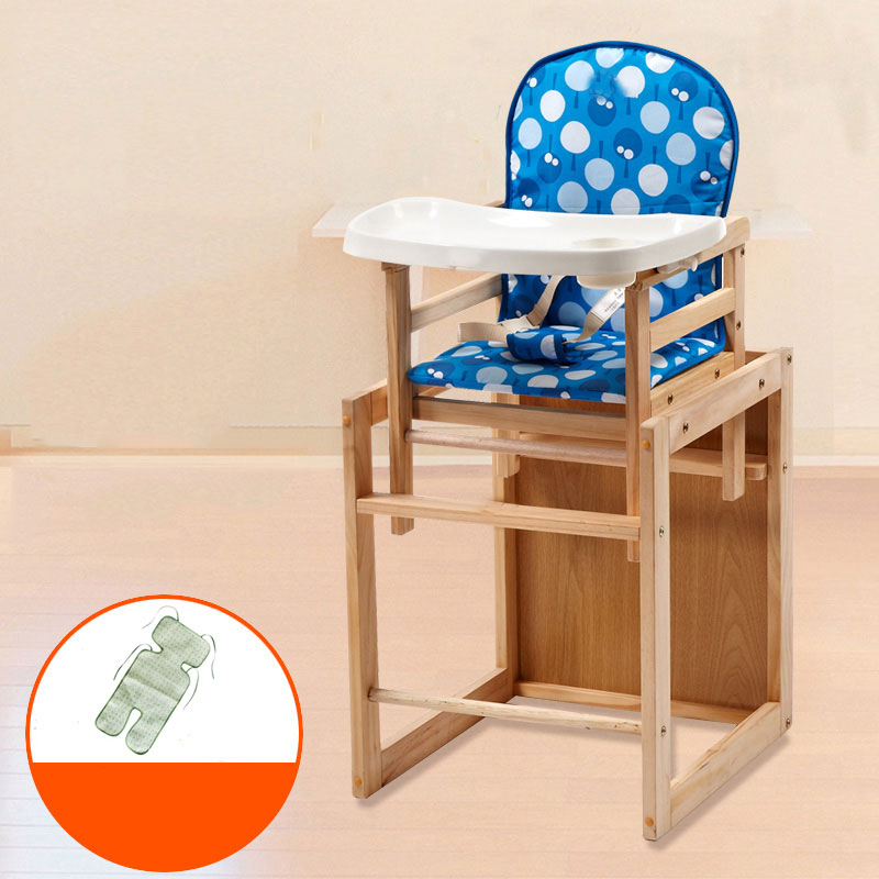 Baby High-feeding Dining Chair Solid Wood Multifunction Food Grade Plastic Detachable Dining Chair Disassembled Plate