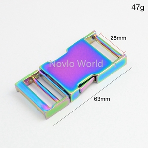 Image 2 - 5 10 30 pieces 2.5cm 1 inch Rainbow Dog Collar Slider Buckles,Personalized release buckles strap adjuster