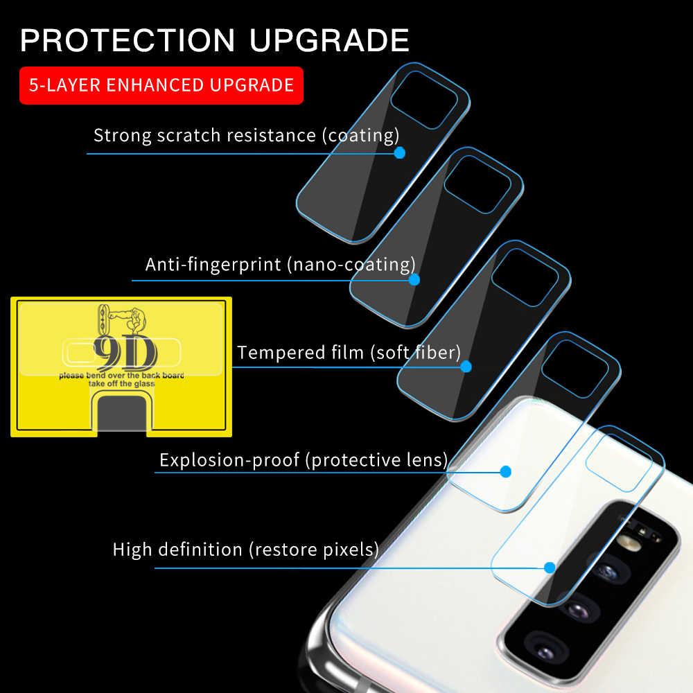 For Samsung S10 S9 / Plus S10e/Lite S8 /Plus S7 S6 Edge Plus Screen Protector Tempered Glass Camera Lens Film Back Camera Lens