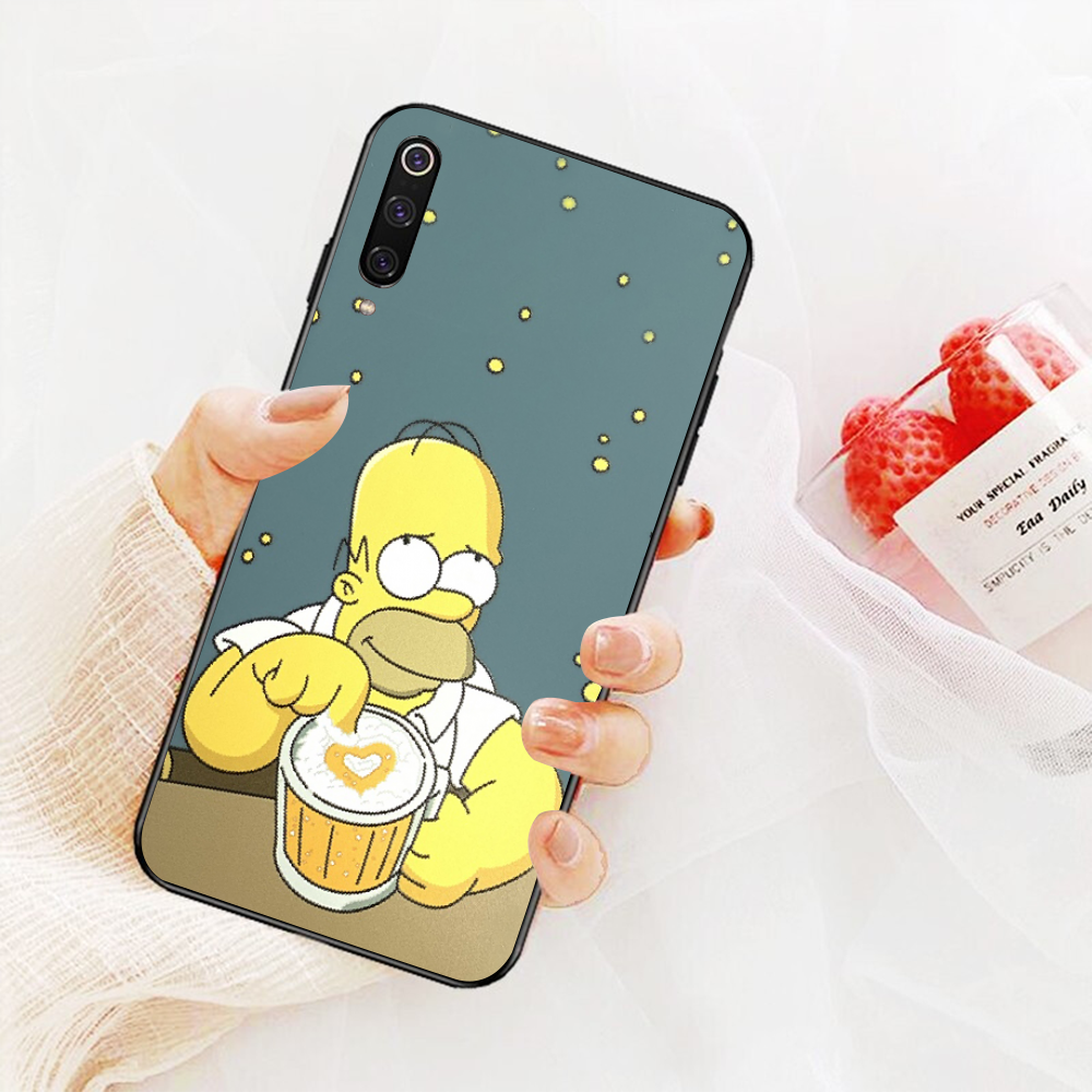 NBDRUICAI Homer J Simpson divertente Bart Simpson Coque Cassa Del Telefono Del Fumetto per Xiaomi 8 9 se 5X Redmi 6pro 6A 4X 7 5 più note5 7 6pro