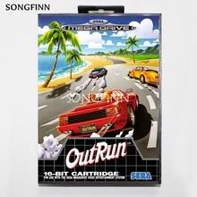 16 Bit Md Scheda di Memoria con La Scatola per Il Sega Mega Drive per Genesis Megadrive Outrun