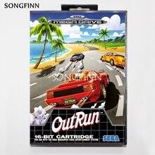 16 บิตพร้อมกล่องสำหรับ Sega MEGA Drive สำหรับ Genesis Megadrive OutRun