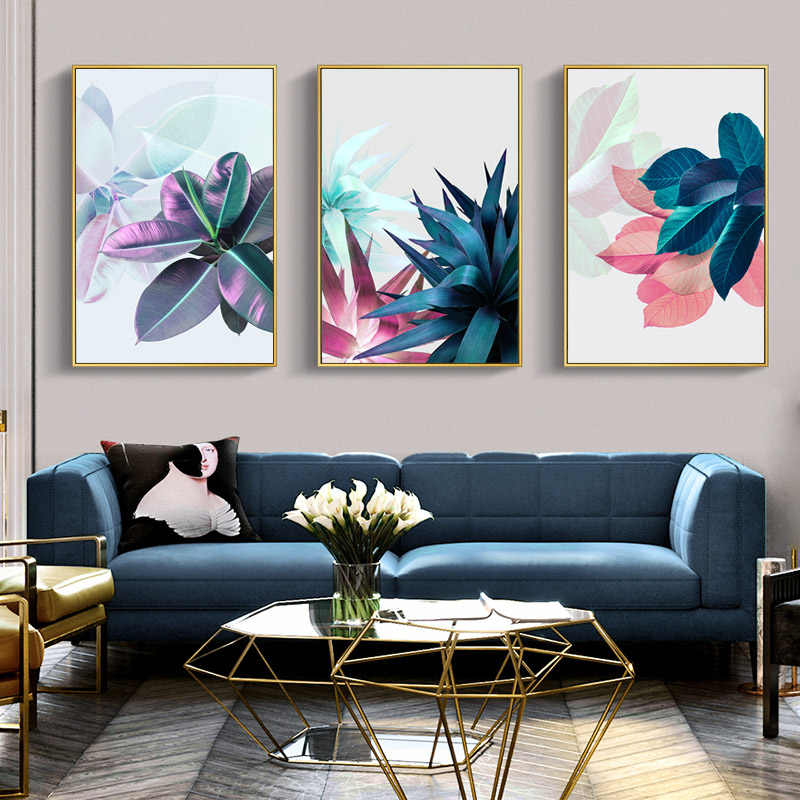Abstract Succulent Plants Nordic Poster Leaf Posters And Prints Wall Art Canvas Painting Poster Wall Pictures For Living Room
