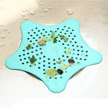 Nieuwe 1Pc Star Vorm Plastic Keuken Mint Plan Bad Douche Drain Cover Afval Gootsteenzeefje Haar Filter Catcher Huis gadgets(China)