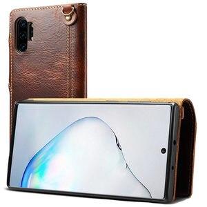 Image 4 - Brieftasche Fall Für Samsung Galaxy Note 20 Ultra S20 Plus S8 S9 S10E S10 5G Hinweis 10 8 9 echtes Leder Flip Cover Handgelenk strap Fall