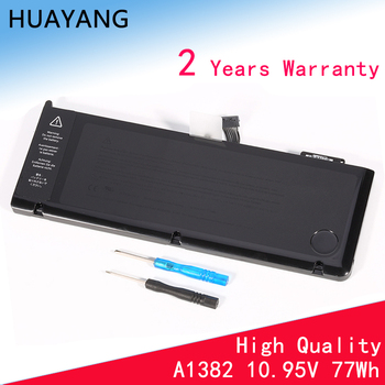 HUAYANG HIGH quality A1382 Battery for apple Macbook Pro 15 A1382 A1286 Early 2011 Late 2011 Mid 2012 020-7134-01 661-5844 аксессуар аккумулятор apple macbook pro 15 a1286 a1382 2011 2012 palmexx 10 8v 7000mah pb 351