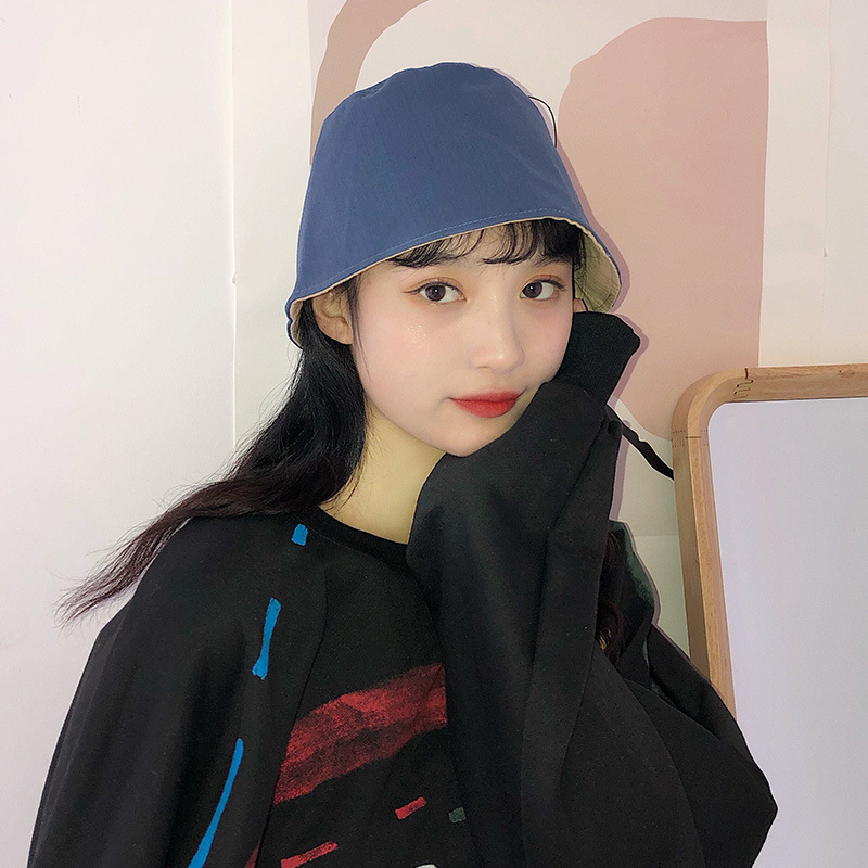 2020 Hat Women Ladies New Double-sided Wearing Fisherman Hat Korean Casual Simple Shade Bucket Hat Student Outdoor Basin Caps