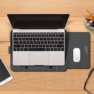 Image 5 - 노트북 가방 PU 가죽 슬리브 가방 케이스 Macbook Air Pro 13 15 노트북 슬리브 가방 Macbook air 11 12 13.3 15.4 인치 케이스