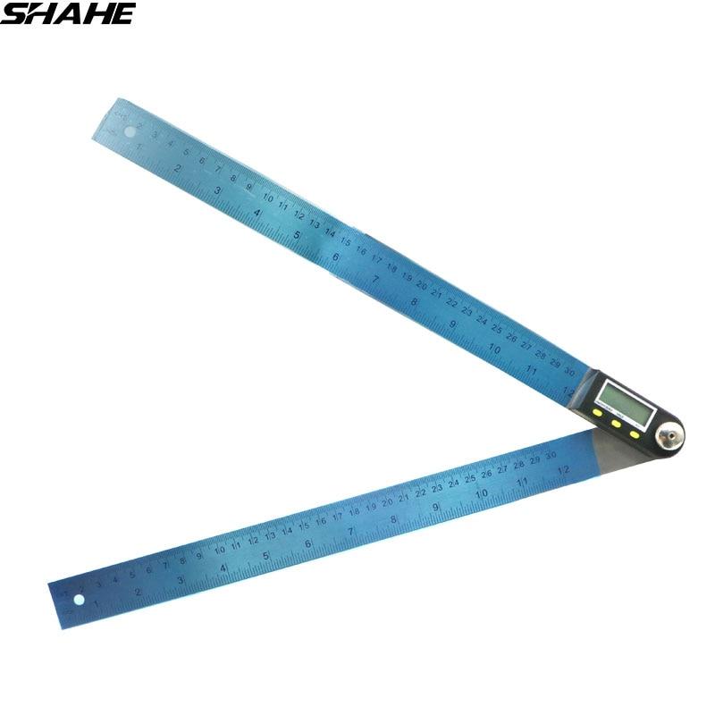 200mm/300mm règle d'angle numérique en acier inoxydable mètre d'angle électronique rapporteur électronique goniomètre jauge d'angle numérique