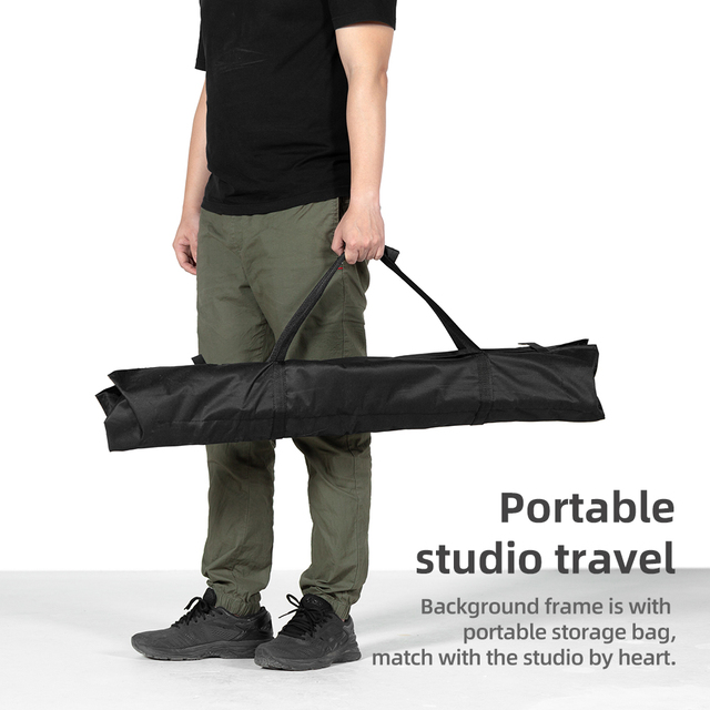 2x2m 6.5ft*6.5ft Backdrop Background Frame Light Stand + 3pcs Clip + Carry Bag Backgrounds Stand Studio Kit 5