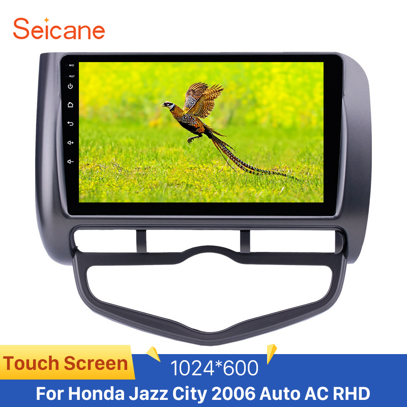 <font><b>Seicane</b></font> Android 8.1 GPS Navigation USB AUX Car Unit Radio for <font><b>Honda</b></font> Jazz <font><b>City</b></font> 2006 Auto AC RHD support Carplay OBD Digital TV image