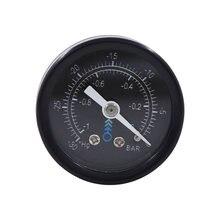 Mini medidor de pressão 42mm do medidor de pressão do vácuo do ar-1bar -30 linha 1/8npt de inhg montagem traseira
