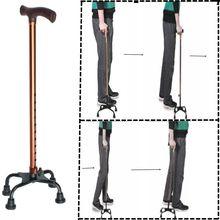 4 головки новая безопасность для пожилых людей трость телескопические трости костыль Т Ручка полюс складной захват для пеших прогулок пожилых мужчин