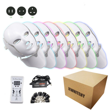 2 Type 7 Colors Light LED EMS Facial Mask Light Therapy Skin Rejuvenation Face Care Treatment Beauty Anti Acne Therapy Whitening