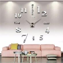 3D duvar saati ayna duvar çıkartmaları yaratıcı DIY duvar saati s çıkarılabilir sanat çıkartması Sticker ev dekor oturma odası kuvars iğne sıcak