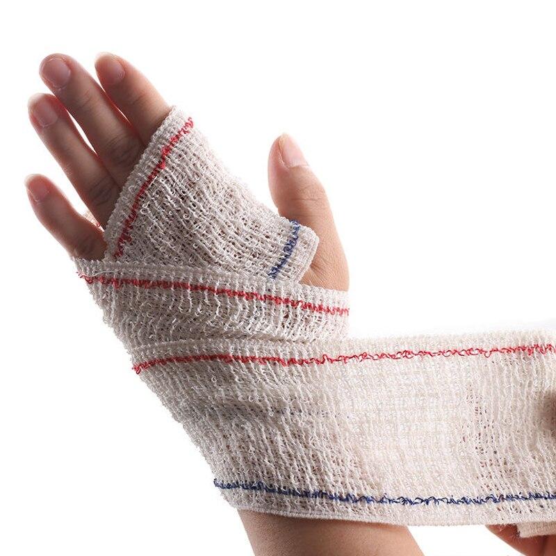12 Rolls High Stretch Spandex Bandage Medical First Aid Elastic Bandage Wound Dressing Outdoor Sports Sprain Treatment
