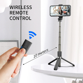 High Quality Extendable Wireless Bluetooth Selfie Stick Monopod Tripod Holder +Bluetooth Remote Shutter For Iphone Action Camera