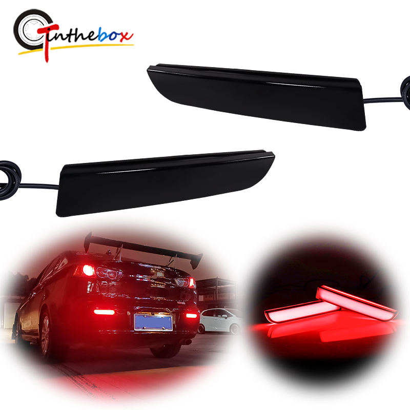 Gtinthebox Red <font><b>LED</b></font> Brake Tail Lights Rear Fog Lamp w/Sequential Turn Signal For <font><b>Mitsubishi</b></font> <font><b>Lancer</b></font> Evolution <font><b>X</b></font> Outlander image