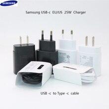 원래 삼성 노트 10 휴대 전화 슈퍼 빠른 충전기 25 w eu 여행 usb pd pss 빠른 충전 어댑터 EP TA800 참고 10 플러스 s 10