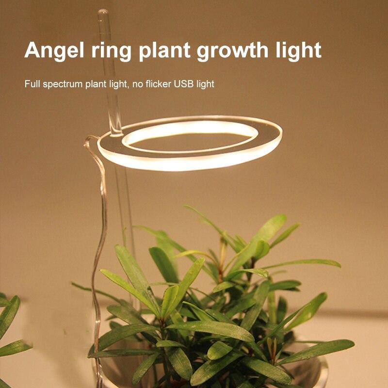 Светодиодный светильник для выращивания растений с полным спектром фитолампа для выращивания USB фитолампа для растений 5 в светильник для р...