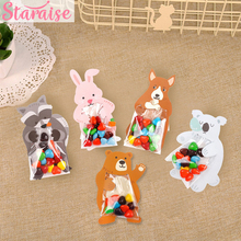 Staraise 10pcs Candy Bag Happy Birthday Party Cookie Gift Wrapping Supplies Wedding Favor Animal Box Decor