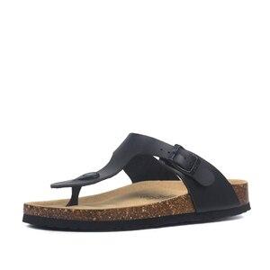 Image 3 - Zomer Vrouwen Kurk Slippers Pu Leer Vrouw Sandalen Fashion Slippers Voor Vrouwen Muilezel Klompen Slippers Vrouwelijke Schoeisel