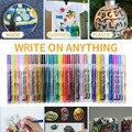 Принадлежности для покраски, маркеры для рисования, 28 цветов/набор, художественные маркеры, написанные на холсте, металлические, керамическ...
