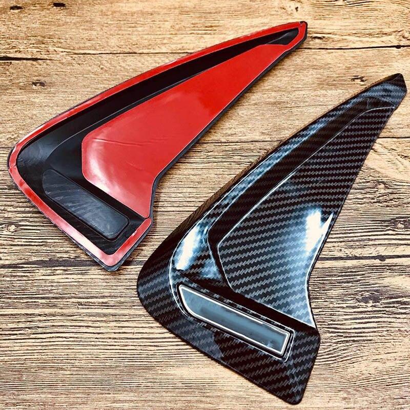 Accesorios de coche ABS flexible fibra de carbono marcador lateral guardabarros flujo de aire coche pegatina para BMW X1 X2 X3 X4 X5 F10 F30 e46 Z4 X6 M3 M5