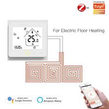 Nowy ZigBee WiFi inteligentny termostat regulator temperatury do wody elektryczne ogrzewanie podłogowe kocioł gazowy współpracuje z Alexa Google Home tanie tanio choifoo CN (pochodzenie) Ready-to-go ZigBee Smart Thermostat Wszystko kompatybilny 95 ~ 240 VAC 50 ~ 60HZ 3A(water heating water boiler gas boiler) 16A(electric heating