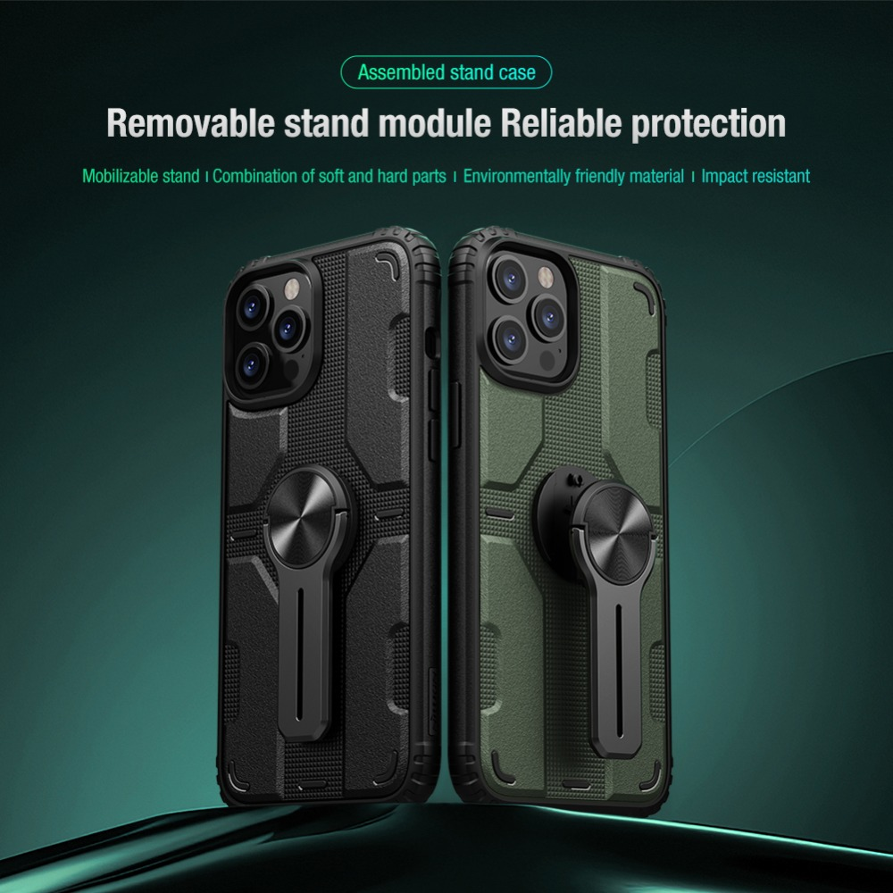 Removable Backrest Alloy Stand Case For iPhone 12 Series