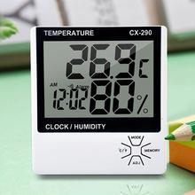 Indoor Room LCD Electronic Thermometer And Humidity Meter Digital Thermometer Hygrometer Alarm Clock function Full-time timer