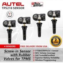 AUTEL Sensor Universal automático programable 2 en 1, 433, MX 315 Mhz, nivel OE, 100% clonable, de monitoreo de presión de neumáticos de coche