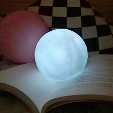 Moon Light сенсорный выключатель, силиконовая Лунная лампа, Белый светодиодный 3D принт, светодиодный ночник, украшение для дома, спальни, подарок для детей, украшение для дома